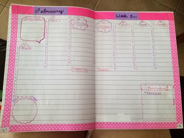 Bujo Feb week 1